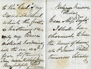 FREDERIC HERVEY FOSTER QUIN - AUTOGRAPH LETTER SIGNED