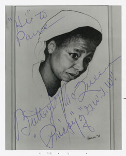 BUTTERFLY McQUEEN - AUTOGRAPHED INSCRIBED PHOTOGRAPH