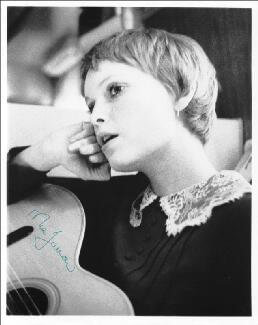 MIA FARROW - AUTOGRAPHED SIGNED PHOTOGRAPH