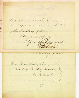 ROBERT TODD LINCOLN - MANUSCRIPT LETTER SIGNED 12/01/1884