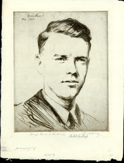 CHARLES A. LINDBERGH - ORIGINAL ART SIGNED CIRCA 1927 CO-SIGNED BY: LEVON FAIRCHILD WEST