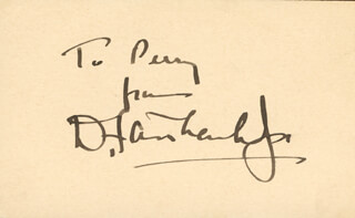 DOUGLAS FAIRBANKS JR. - AUTOGRAPH NOTE SIGNED