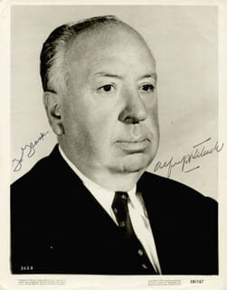 ALFRED HITCHCOCK - AUTOGRAPHED INSCRIBED PHOTOGRAPH
