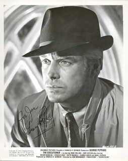 GEORGE PEPPARD - AUTOGRAPHED INSCRIBED PHOTOGRAPH 1970