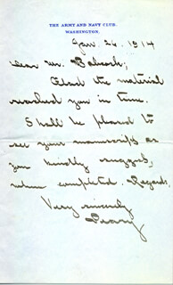 ADMIRAL ROBERT E. PEARY - AUTOGRAPH LETTER SIGNED 01/26/1914