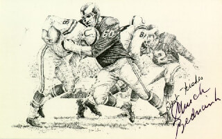 CHUCK BEDNARIK - PRINTED ILLUSTRATION SIGNED IN INK