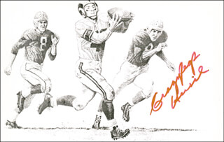 ELROY CRAZY LEGS HIRSCH - ILLUSTRATION SIGNED