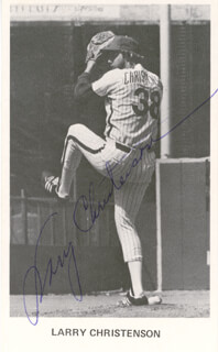 LARRY CHRISTENSON - AUTOGRAPHED SIGNED PHOTOGRAPH