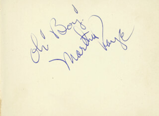Autographs: MARTHA RAYE - AUTOGRAPH SENTIMENT SIGNED