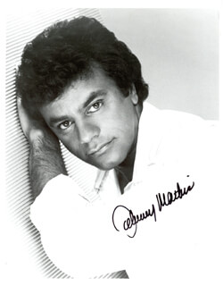 JOHNNY MATHIS - AUTOGRAPHED SIGNED PHOTOGRAPH