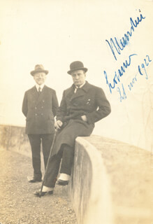 PRIME MINISTER BENITO (IL DUCE) MUSSOLINI (ITALY) - AUTOGRAPHED SIGNED PHOTOGRAPH 11/21/1922