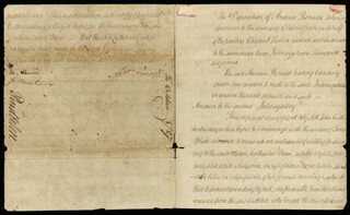 Autographs: CHIEF JUSTICE JOHN MARSHALL - AUTOGRAPH DOCUMENT SIGNED 10/1787