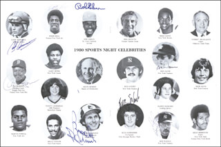 BROOKS ROBINSON - PROGRAM SIGNED 05/29/1980 CO-SIGNED BY: EDDIE BELL, CASH ASMUSSEN, BUZZ SCHNEIDER, BOB GIBSON, RON DAVIS, ALVIN LITTLE AL JACKSON, BOB BULL WATSON