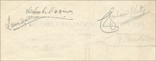 SIR HIRAM STEVENS MAXIM - AUTOGRAPH CIRCA 1910 CO-SIGNED BY: CLAUDE GRAHAME-WHITE
