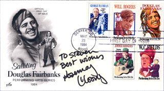 ROSEMARY CLOONEY - FIRST DAY COVER WITH AUTOGRAPH SENTIMENT SIGNED
