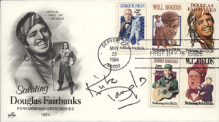 KIRK DOUGLAS - FIRST DAY COVER SIGNED