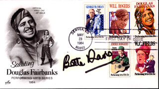 BETTE DAVIS - FIRST DAY COVER SIGNED
