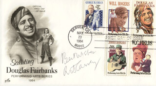 ART CARNEY - FIRST DAY COVER WITH AUTOGRAPH SENTIMENT SIGNED