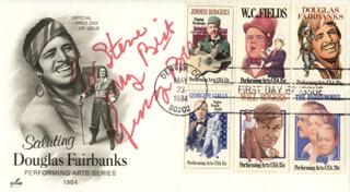 GEORGE BURNS - FIRST DAY COVER WITH AUTOGRAPH SENTIMENT SIGNED