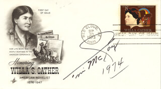 TIM McCOY - FIRST DAY COVER SIGNED 1974