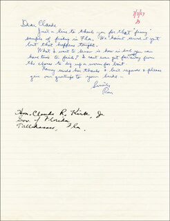 PRESIDENT RONALD REAGAN - AUTOGRAPH LETTER SIGNED 07/03/1967