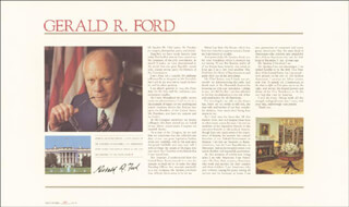 PRESIDENT GERALD R. FORD - BROADSIDE SIGNED CIRCA 1973
