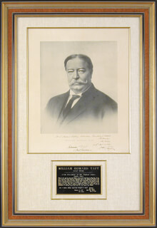 PRESIDENT WILLIAM H. TAFT - AUTOGRAPHED INSCRIBED PHOTOGRAPH 02/01/1915