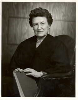 JUDGE SARAH T. HUGHES - AUTOGRAPHED SIGNED PHOTOGRAPH