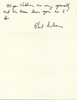 PHIL SILVERS - AUTOGRAPH NOTE SIGNED