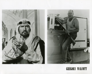 GREGORY WALCOTT - PRINTED PHOTOGRAPH SIGNED IN INK