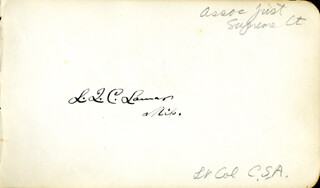 Autographs: ASSOCIATE JUSTICE LUCIUS Q. C. LAMAR - SIGNATURE(S) CO-SIGNED BY: ORVILLE H. PLATT