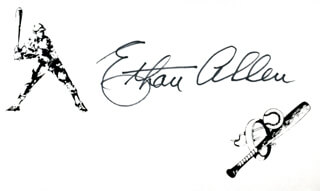 ETHAN N. ALLEN - PRINTED CARD SIGNED IN INK