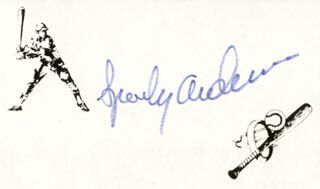 Autographs: SPARKY ANDERSON - PRINTED CARD SIGNED IN INK