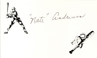 NATE ANDREWS - PRINTED CARD SIGNED IN INK