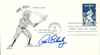 RON BLOMBERG - FIRST DAY COVER SIGNED