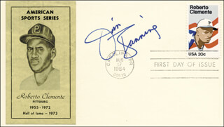JIM BUNNING - FIRST DAY COVER SIGNED
