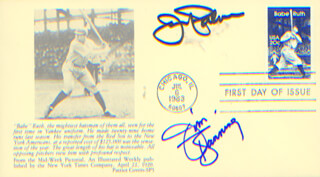 JIM BUNNING - FIRST DAY COVER SIGNED CO-SIGNED BY: JIM PALMER