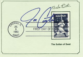 JOE CARTER - FIRST DAY COVER SIGNED