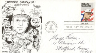 GEORGE FALLON - FIRST DAY COVER SIGNED