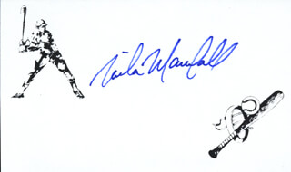 MIKE A. MARSHALL - PRINTED CARD SIGNED IN INK