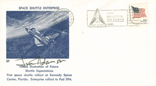 Autographs: COLONEL JAMES C. JIM ADAMSON - COMMEMORATIVE ENVELOPE SIGNED
