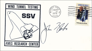 Autographs: COLONEL JOHN E. BLAHA - COMMEMORATIVE ENVELOPE SIGNED