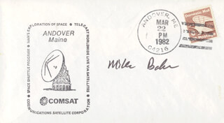 Autographs: CAPTAIN MIKE BAKER - COMMEMORATIVE ENVELOPE SIGNED