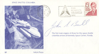 JOHN S. BULL - COMMEMORATIVE ENVELOPE SIGNED