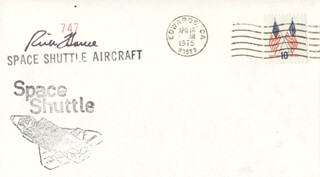 CAPTAIN FREDERICK RICK HAUCK - COMMEMORATIVE ENVELOPE SIGNED