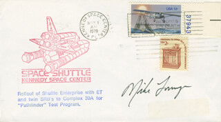 MIKE (JOHN M.) LOUNGE - COMMEMORATIVE ENVELOPE SIGNED