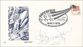 SHANNON W. LUCID - COMMEMORATIVE ENVELOPE SIGNED 08/10/1979