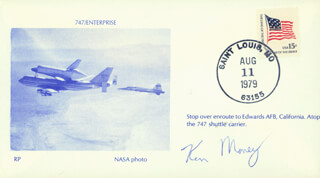 Autographs: KEN MONEY - COMMEMORATIVE ENVELOPE SIGNED