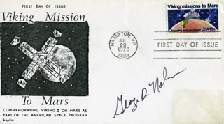 GEORGE D. NELSON - FIRST DAY COVER SIGNED