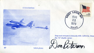 COLONEL DONALD H. PETERSON - COMMEMORATIVE ENVELOPE SIGNED